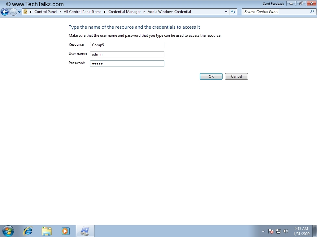 Tutorial Windows 7: Credential Manager in Win 7