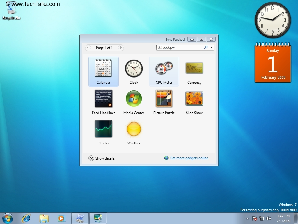 Desktop Calendar Windows 7 : Desktop calendar gadget search results
