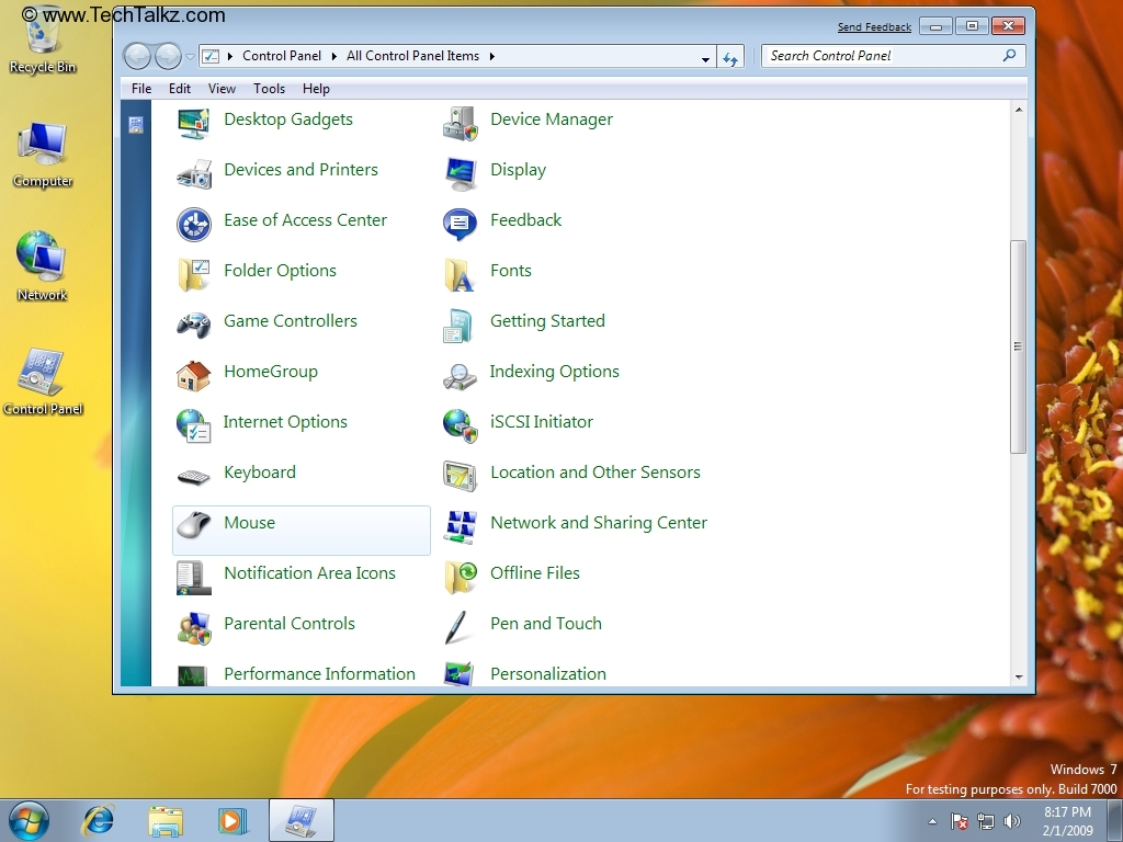 Guide - How to Change Mouse Settings in Windows 7 | TechTalkz com