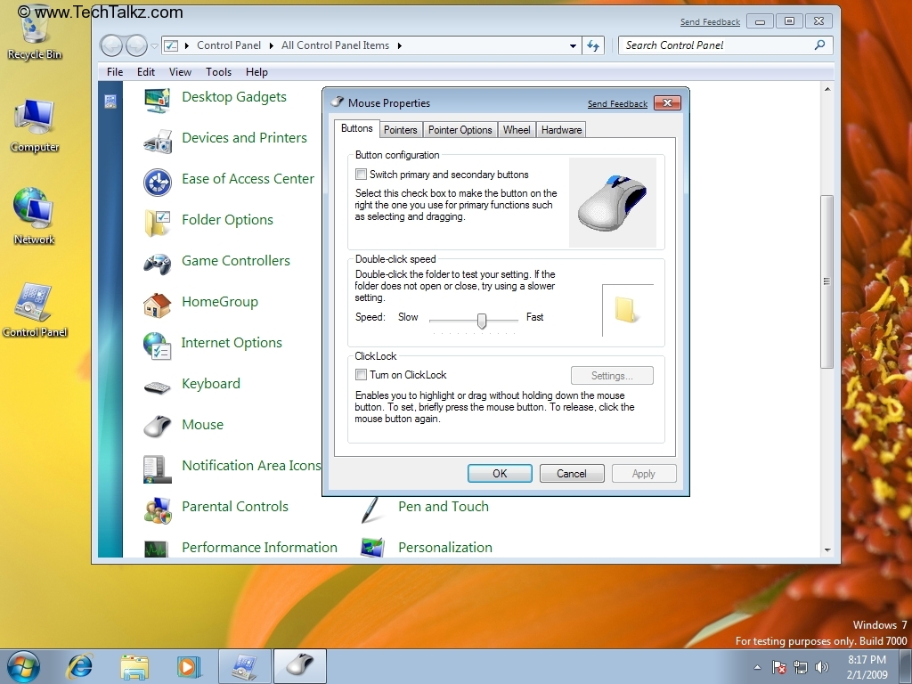 Guide - How to Change Mouse Settings in Windows 7